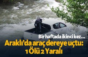 Araklı'da araç dereye uçtu: 1Ölü 2 Yaralı
