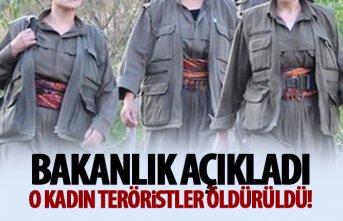 Arama listesinde olan 5 Kadın Terörist öldürüldü