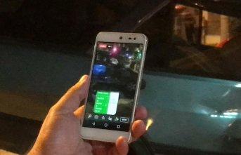 4 kişinin yaralandığı kazayı sosyal medyadan canlı yayınladı