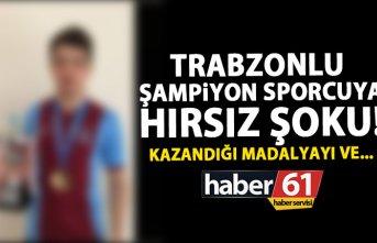 Trabzon'da şampiyonsporcunun evini soydular!