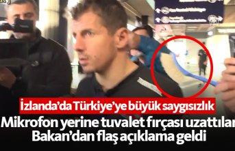 Türkiye'ye büyük terbiyesizlik! Mikrofon yerine...