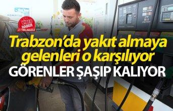Trabzon'da yakıt almaya gelenleri merinos karşılıyor