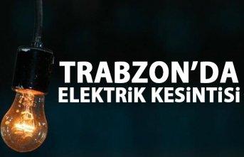 Trabzon'da elektrik kesintisi! Trabzon'da elektrikler...