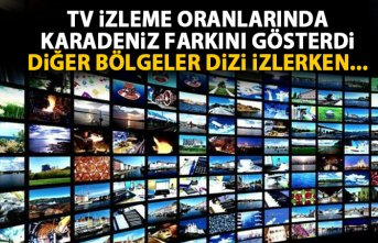 Televizyon izleme oranlarında Karadeniz farkını...