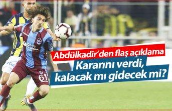 Abdülkadir Ömür kararını açıkladı! Trabzonspor'da...