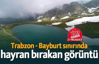Trabzon - Bayburt sınırında hayran bırakan görüntü