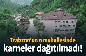 Trabzon'da o mahallesinde karneler dağıtılmadı!