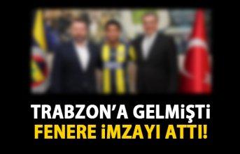 Trabzonspor ile anlaşamadı Fenerbahçe'ye imza attı!