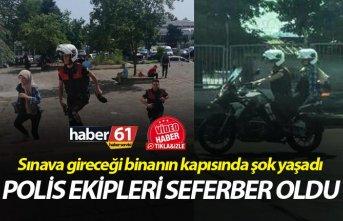Trabzon'da polis ekipleri bayan öğrenci için...