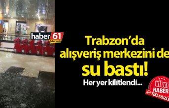 Trabzon'da yağmur 15 dakikada her yeri kilitledi