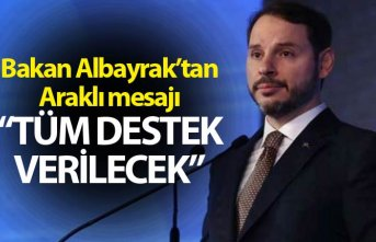 """Berat Albayrak'tan Araklı mesajı - """"Tüm..."""