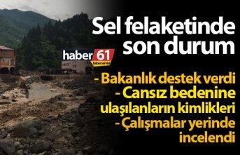 Araklı'daki sel felaketinde son durum