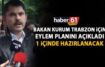 Bakan Kurum Trabzon için eylem planını açıkladı