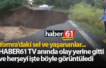 Yomra'da yaşananları Haber61 TV an be an canlı aktardı