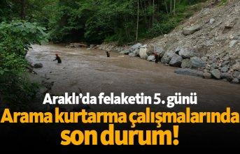 Araklı'da arama kurtarma çalışmalarında 5. gün