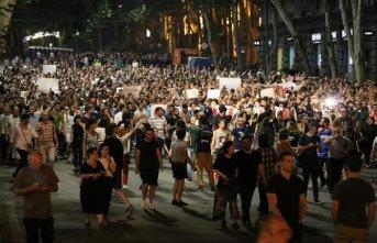 Gürcistan'da protestolar devam ediyor!
