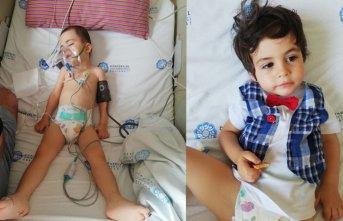 Minik Ateş 14 santimlik tümörle yaşam mücadelesi veriyor