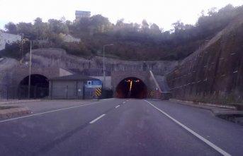 Trabzon Rize arasındaki tünel kapatıldı