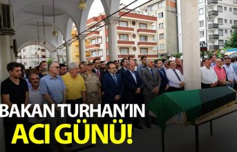 Trabzonlu Bakan Turhan'ın acı günü