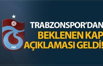 Trabzonspor'dan beklenen KAP açıklaması geldi!