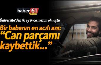 Yomra'da acı kaza! Motor sürücüsü genç hayatını kaybetti!