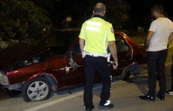 İlginç kaza, otomobil var sürücüsü yok