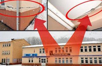 Tonya'da heyelan tehlikesi nedeniyle okul kapatıldı