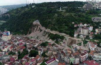Doğal sit alanı Boztepe'de tünel ve yol inşaatına...