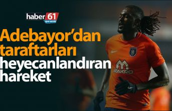 Emmanuel Adebayor'dan Trabzonspor taraftarlarını...
