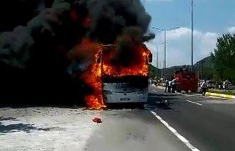 Otobüs yangınının acısı Trabzon'a düştü