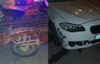 Otomobil, kasalı motosikletle çarpıştı: 1 yaralı