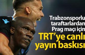 Trabzonspor taraftarından TRT'ye canlı yayın...