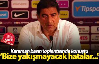 Ünal Karaman basın toplantısında konuştu