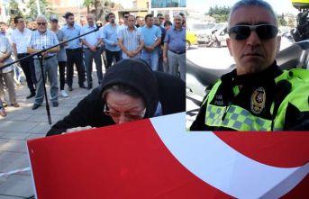 Şehit polis memuruna son görev