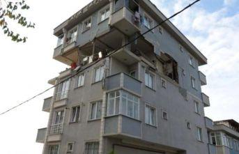 6 katlı binada patlama: 1 yaralı