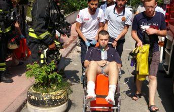 Su ısıtıcısı patladı, baba oğul yaralandı