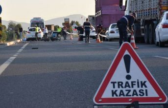 Trafik kazası: 3 yaralı