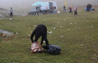 Yaylada çöp ayıbı yarışma ile kapatılmaya çalışıldı!