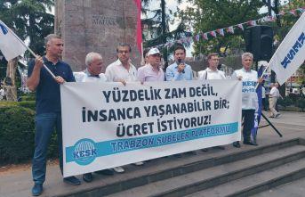 KESK'ten Trabzon'da basın açıklaması