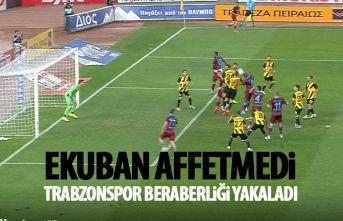 Trabzonspor'u umutlandıran gol Ekuban'dan...