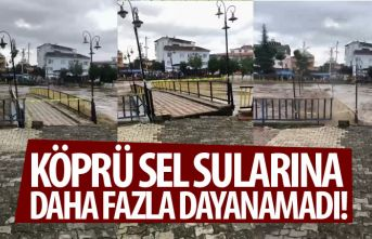 Samsun'da köprü sel sularına dayanamadı