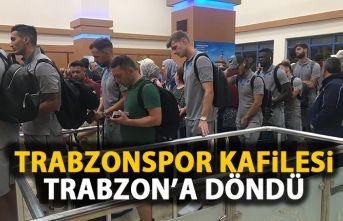 Trabzonspor kafilesiTrabzon'a döndü