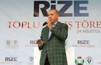 Cumhurbaşkanı Erdoğan: Rize-Artvin Havalimanı 1,5 yıl içerisinde hizmete alınacak