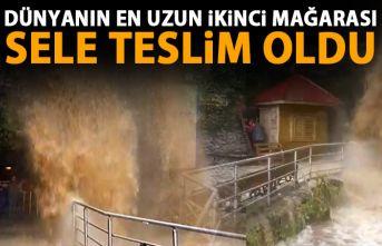 Dünyanın en uzun ikinci mağarasını sel vurdu