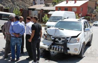 Hakkari'de trafik kazası: 1 yaralı