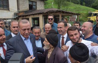 Cumhurbaşkanı Erdoğan Tonya'da