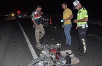 Gaziantep'te motosikletler çarpıştı!