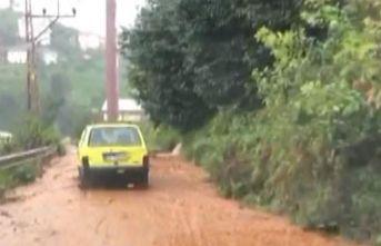 Rize'de yağış etkili oldu