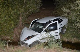 Sürücüsü kalp krizi geçirdi sulama kanalına girdi: 1 ölü, 3 yaralı