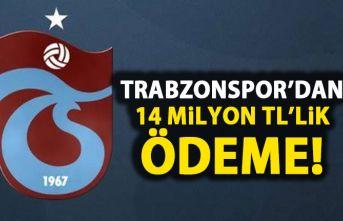 Trabzonspor'dan 14 Milyon TL ödeme